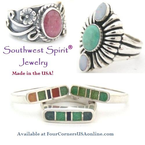 Southwest Spirit and Southwest Romance Sterling Silver Rings Closeout