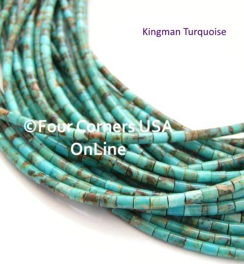 Kingman Turquoise Heishi Bead Strands Jewelry Making Supplies Four Corners USA OnLine