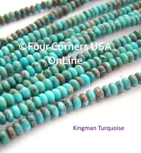 Arizona Kingman Turquoise Rondelle Bead Strands Four Corners USA OnLine Jewelry Making Supplies