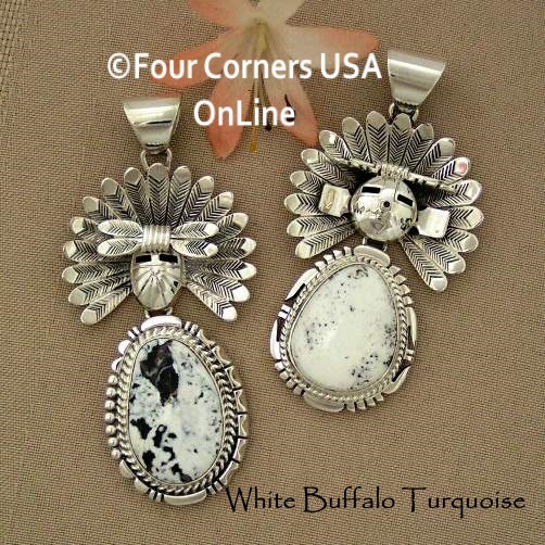 White Turquoise Sun Kachina Navajo Freddy Charley Four Corners USA OnLine Native American Jewelry