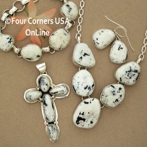 White Buffalo Turquoise Pendants Necklaces Jewelry Sets Four Corners USA OnLine Native American Jewelry