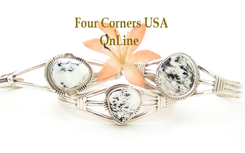 White Turquoise Cuff Bracelets Four Corners USA OnLine Native American Jewelry