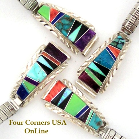 Multi Color Multi Stone Watches for Men and Women Four Corners USA OnLine Native American Jewelry
