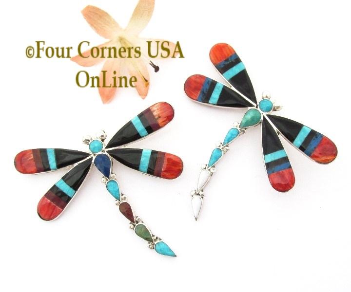 Inlay Dragonfly Jewelry Zuni Angus Ahiyite Four Corners USA Online